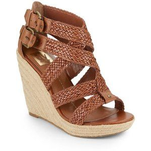 Dolce Vita Wedge Heel Braided Strappy Wedge Brown
